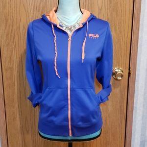 Fila Sport Blue & Orange Jacket. Size XS